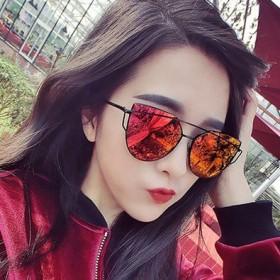 时尚左岸潇塑料太阳镜 潮流炫彩反光太阳眼镜百搭墨镜