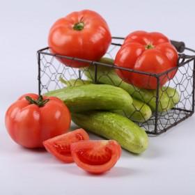 丰收组合普罗旺斯西红柿和中华白玉黄瓜共4.5斤