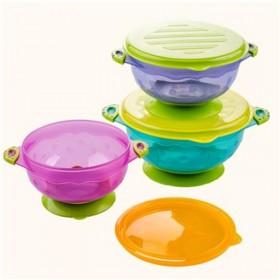 宝宝防滑双耳吸盘碗防摔训练碗婴幼儿辅食碗吃饭碗