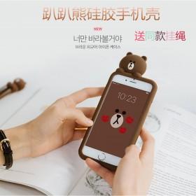 iPhone7 Plus手机壳卡通小熊6s硅胶软套