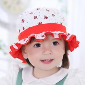 春夏款婴幼儿男女宝宝帽子3-6个月儿童帽子盆帽