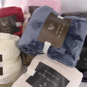 法兰绒加厚珊瑚绒毛毯野外垫布床单瑕疵品尾货毛毯清仓