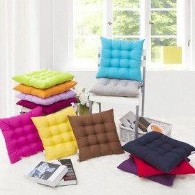 方形冬季坐垫 纯棉加厚办公室电脑椅子垫