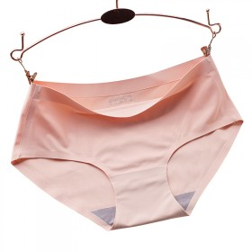 4条装 纯棉裆中腰无痕内裤女冰丝一片式透气薄款性感