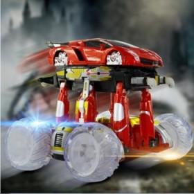 键变形遥控车男孩充电玩具遥控汽车翻斗特技车越野赛车