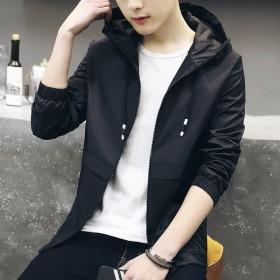 新款男士夹克男装韩版修身休闲风衣外套