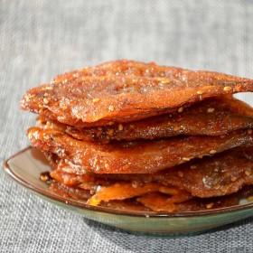 丸和 无淀粉即食烤鱼片香辣 休闲零食原味100g