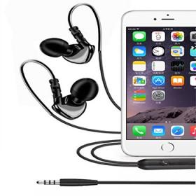 入耳式通用低音运动耳机 线控带麦音量调节MP3环绕