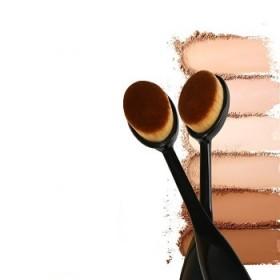 化妆刷牙刷型粉底刷 不吃粉BB霜刷粉底液刷便携洁面