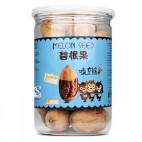 唛克熊新货碧根果奶油味215g罐装长寿果