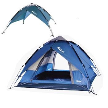 户外高品质自动帐篷3-4多人露营双层防雨两用款