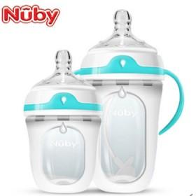 美国Nuby努比新生儿宽口径软硅胶奶瓶