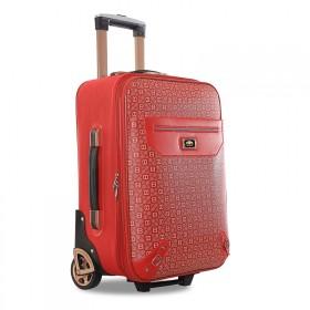 皮箱拉杆箱女旅行箱单向轮行李箱红色结婚箱子20寸密