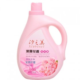 洗衣液特价促销包邮 3kg柔顺瓶装浪漫花香全效护理