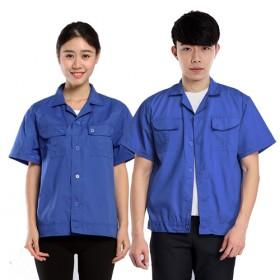 夏季短袖工作服男女工装汽修短袖工装定制