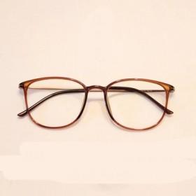 配近视眼镜大框超轻tr90圆框复古成品金属细腿