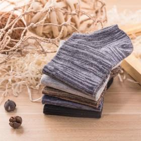 5双装 新款男士防臭秋冬短袜纯棉四季隐形袜浅口船袜