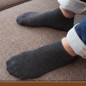 5双装 袜子男士秋冬棉袜短袜船袜薄袜低帮浅口隐形袜