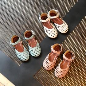 春夏新款韩版女童鞋公主鞋女童凉鞋编织宝宝鞋镂空沙滩