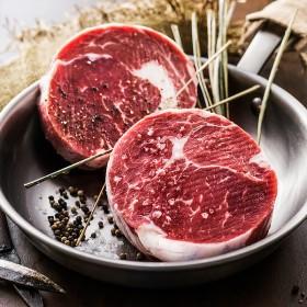 清真原切2.5cm厚切菲力眼肉西冷牛排1645g