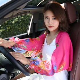 防晒披肩 女开车长袖套 空调披肩多功能防紫外线丝巾
