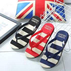 夏季新款男生夹脚人字拖防滑简约凉拖鞋户外沙滩鞋男潮