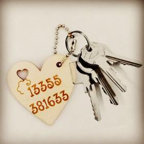 木刻画定制照片diy创意结婚生日礼物钥匙扣