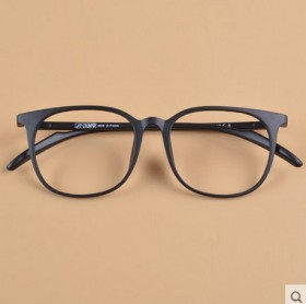 超轻眼镜框 配近视镜架 眼睛大圆框磨砂黑豹纹潮