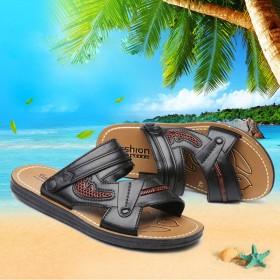 男士凉鞋男夏季沙滩鞋2017新款韩版休闲鞋露趾防滑