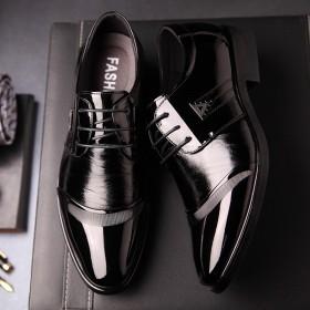 春夏季男士皮鞋英伦尖头潮鞋商务正装皮鞋