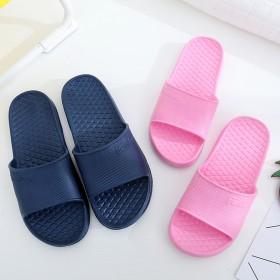 纯色厚底防滑情侣浴室拖鞋
