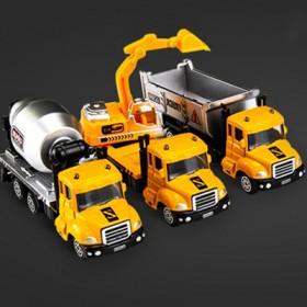 儿童玩具仿真车警车跑车小汽车玩具合金车工程车消防车
