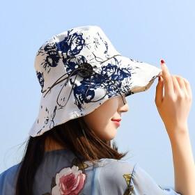 帽子女夏户外防晒防紫外线可折叠出游百搭盆帽太阳遮阳