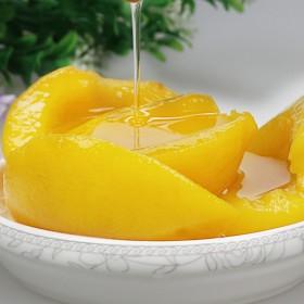 振豫 黄桃罐头425gx4罐 对开黄桃
