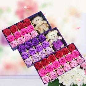 创意礼品香皂玫瑰花礼盒送女友闺蜜生日礼物情人节礼品