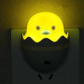 包邮卡通蛋壳小黄鸭LED光控感应小夜灯卧室床头客厅