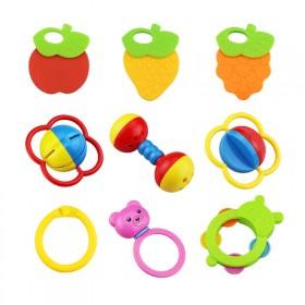 婴幼儿宝宝摇铃手摇铃0-6-12个月牙胶摇铃玩具