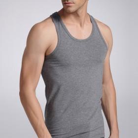 男式加肥加大码莫代尔弹力健身运动训练纯棉薄汗背心