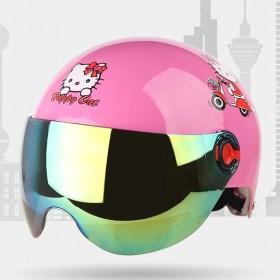 摩托车头盔男女士电动车夏季清凉防雨半盔