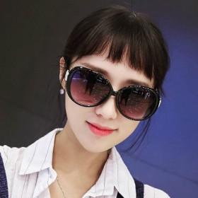 墨镜女潮明星款眼睛圆脸韩国优雅眼镜2017新款圆形