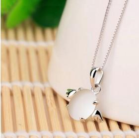 925银天使蛋吊坠天使银饰品可爱防过敏