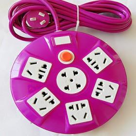多口创意大圆盘插座接线板大功率排插插板插线板插排防