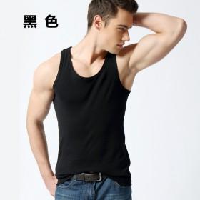 康吉鸟男士背心纯棉修身型健美运动时尚打底纯色吸汗