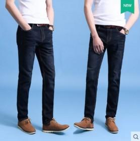 夏季牛仔裤男士弹力修身直筒商务休闲大码宽松青年四季