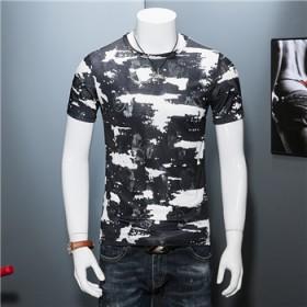丝光棉短袖T恤男夏季