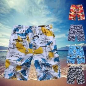 运动男款短裤夏季休闲五分裤松紧花沙滩裤