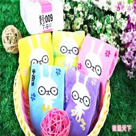 5双礼盒装透气薄款纯棉女童袜