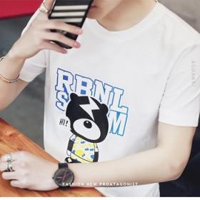 青少年圆领休闲短袖T恤