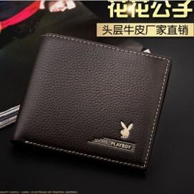 男士钱包花花公子钱包薄款钱包时尚休闲钱包牛皮包
