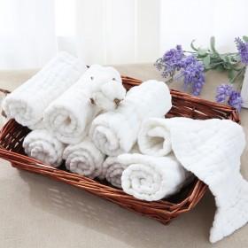 五条装 婴儿纯棉尿布可洗12层全棉纱布新生儿宝宝尿